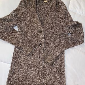 J. Crew Brown Grandpa Style Cardigan Sweater